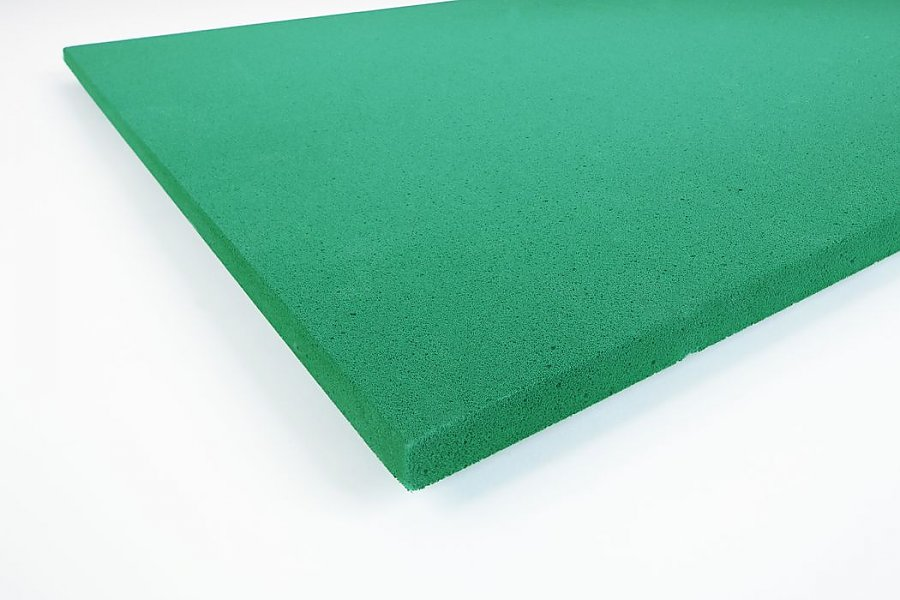 Smooth panels Basotect® 3 cm green