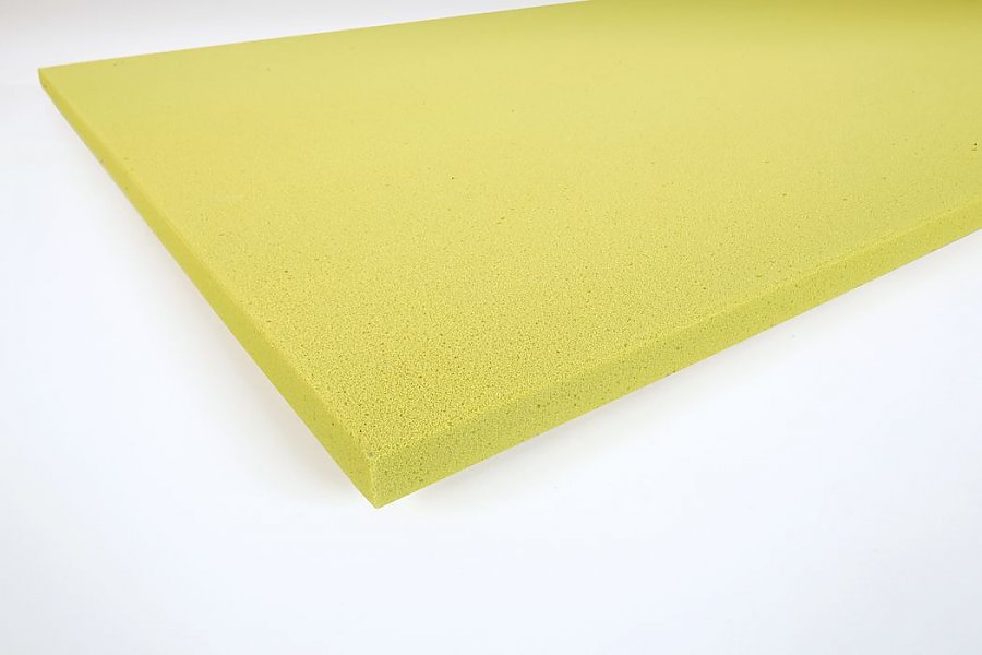 Smooth panels Basotect® 3 cm yellow