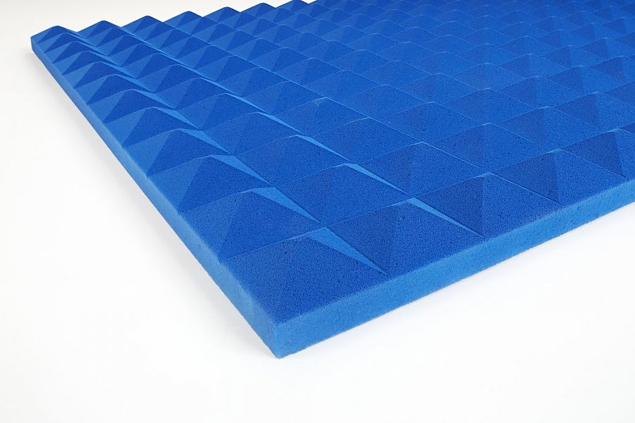 Acoustic foam Pyramid Basotect® 3 cm blue