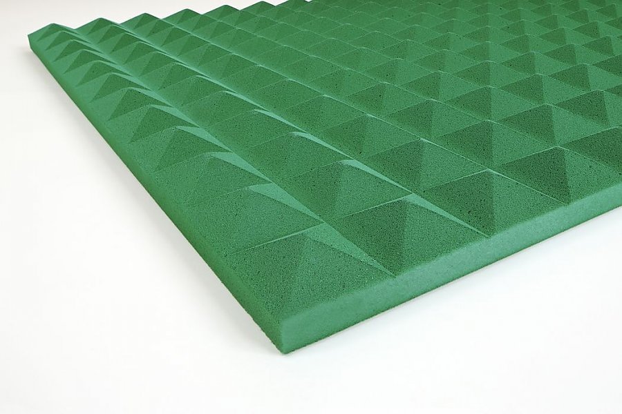 Acoustic foam Pyramid Basotect® 3 cm green