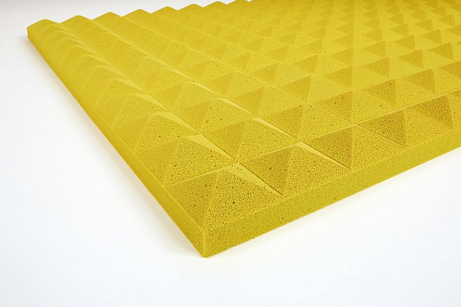 Acoustic foam Pyramid Basotect® 3 cm yellow