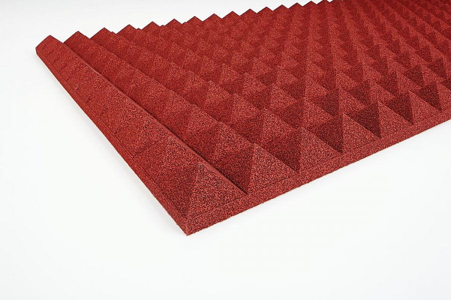 Acoustic foam Pyramid PU 3 cm red
